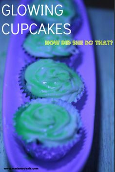 This is super cool recipe for Halloween. Make cool party cupcakes that glows.