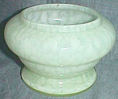 Czechoslovakia Vaseline Glass Vase