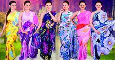 Check out variety of #Printed #Sarees only at sairandhri.com