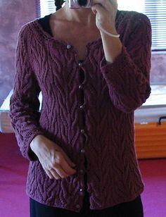 Ravelry: #09 Cable Lace Cardigan pattern by Svetlana Avrakh @Af's 5/3/13