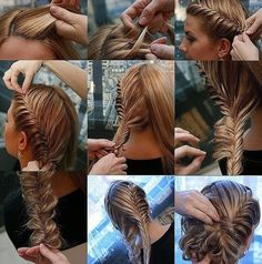 fishtail braid hairdo