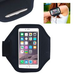 [$1.40] Neoprene Sports Armband Case for iPhone 6 & 6s(Black)
