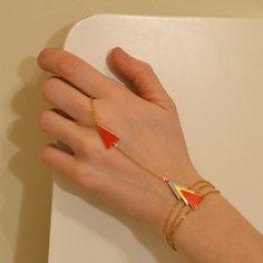 Bracelet ring  geometric jewelry  statement by virginiemillefiori