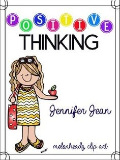 This pack can help you with the students that have a hard time thinking positively.  Some students just need that extra love and lesson of self esteem.  There are several pages here to help students reflect and build their self confidence and positive feelings.