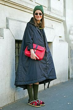 Love the weight and A-line shape of this coat!