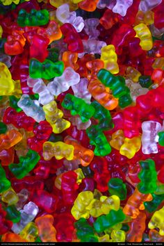 Candy Stock 0002 by phantompanther-stock on deviantART Best Gummy Bears, Cute Food, Yummy Food, Vegan Gelatin, Candy Background, Candy Photography, Candy Pictures, Junk Food Snacks, Rainbow Food