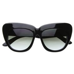 c2879b59ed Black Friday zeroUV® - Oversized High Fashion Designer Inspired Bold Cat  Eye Sunglasses Cateyes (Black) from MJ Boutique Cyber Monday