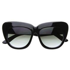 c2879b59ed Black Friday zeroUV® - Oversized High Fashion Designer Inspired Bold Cat  Eye Sunglasses Cateyes (Black) from MJ Boutique Cyber Monday