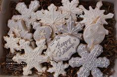 Christmas Cookies Santa Cookies Snowman Cookies Snowflake Cookies www.SweetSceneBakery.com Sweet Scene Bakery