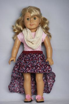 18 American Girl Doll Outfit with HighLow by Emilysdollcloset, $26.00