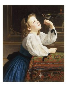 L'Oiseau Cheri, 1867 Giclee Print by William Adolphe Bouguereau at AllPosters.com