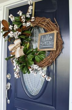 Hello, spring. And hello, beautiful blue! One of the best ways to add a pop of curb appeal to your house is to repaint the front door. Shara from @sharamccuiston did just that, going from a well-worn red to Anchors Aweigh SW 9179. Trim in Extra White SW 7006 helps give the door even more classic charm.