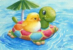 Baby+Chick+in+Pool+Janet+by+Zehland