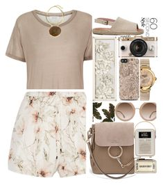 """1809"" by mykatty091 ❤ liked on Polyvore featuring Samsøe & Samsøe, Haute Hippie, Salvatore Ferragamo, Chloé, TOMS, Alice + Olivia, Home Decorators Collection, shorts, amusementpark and polyvorecontest"