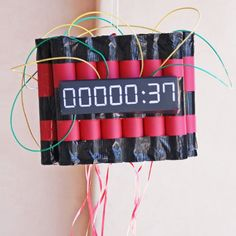 Make your spy birthday party amazing with this fun Pull-String Time Bomb Piñata! Kids pull the string to disarm the pinata and get the candy. Spy Birthday Parties, Superhero Birthday Party, Escape Room, Paper Models, Birthday Party Decorations, Party Time, Beavers, How To Make, Sunshine