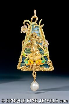 aucoc jewelry | ATTRIBUTED TO LOUIS AUCOC A very fine Art Nouveau gold, enamel and ...