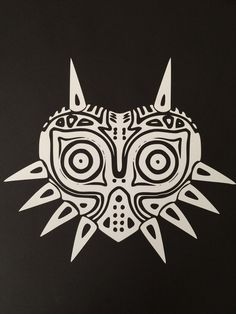 High detail majoras mask custom white vinyl by adventuresingeekery