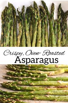 This oven-roasted asparagus is absolutely delicious and super simple to prepare. It pairs well with most proteins, or can be chopped and added to salads, pizza, pasta, frittatas and more. #Asparagus #Vegetables #RoastedAsparagus #EasyRecipes Oven Roasted Asparagus, Fresh Asparagus, Asparagus Recipe, Easy Vegetable Side Dishes, Healthy Side Dishes, Healthy Dinners, How To Store Asparagus, Easy Dinner Recipes