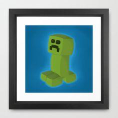 #Minecraft #Creeper Framed #Art Print by Rosana Kooymans http://society6.com/RosanaKooymans/Minecraft-Creeper-cc4_Framed-Print#12=52&13=55