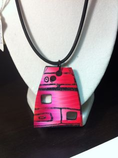 Stamped polymer clay by Roberta
