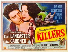 Burt Lancaster was in a lot of film noir - man, he's a great actor and this is a classic film noir.