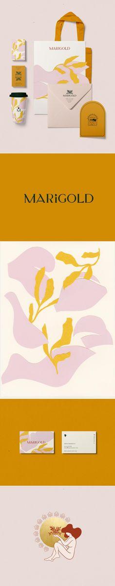 Marigold Branding by Cocorrina | Fivestar Branding Agency – Design and Branding Agency & Curated Inspiration Gallery #branding #brandinginspiration #design #packaging #logo #logodesign #colors #behance #pinterest #dribbble #fivestarbranding