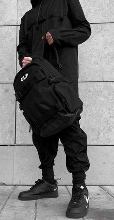 men dark streetwear | black clothes | mens fashion | techwear Dark Fashion, Mens Fashion, Black Outfit Men, Street Goth, Cyberpunk Fashion, Shops, Streetwear, Gentleman Style, Mens Clothing Styles