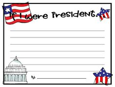 If I Were President... | Worksheets, Presidents and Articles