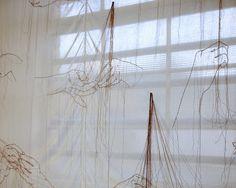essons for Restoration (sewing up) 2012 Stitching on cloth 290 x 270 cm Installation at Atelierhof Kreuzberg, Berlin, Germany Photo: Ute Klein