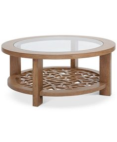 Wooden Coffee Table Designs, Wood Table Design, Wooden Tables, Coffee Table With Shelf, Cool Coffee Tables, Round Coffee Table, Centre Table Design, Center Table, Home Decor Furniture