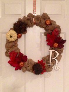Burlap Fall Wreath!