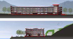Estructura de Estacionamientos Wulai,Cortes