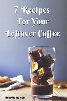As a mom, I never get to drink my coffee hot and much of it goes to waste. Check out these creative recipes to use your old morning brew. Coffee Blog, Coffee Uses, Great Coffee, My Coffee, Coffee Cake, Morning Coffee, Coffee Flask, Coffee Enema, Coffee Truck