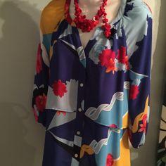 Blueprint blouse Blue print blouse Style Tops Blouses