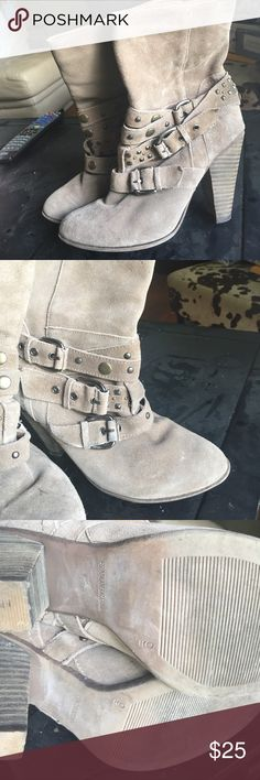 Franco Fortini Buckle Boots Good condition a few scuffs but not noticeable when wearing Franco Fortini Shoes Heeled Boots