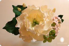 Gumpaste Recipe Tutorial HERE:- http://shivssweetdelights.blogspot.ca/2012/04/how-to-make-open-peony.html