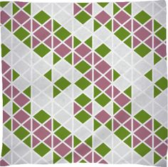 Abstract Geometric Pattern Pink, Green and White by gbc-design