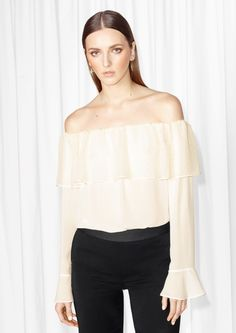 c897642f088e55 Sheer Off-Shoulder Top perfect for summer days out