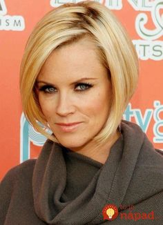 25 Charming Celebrity Short Haircuts: Jenny Mccarthy's Fabulous and Gorgeous Bob Hair Celebrity Short Haircuts, Edgy Short Haircuts, Asymmetrical Bob Haircuts, Angled Bob Hairstyles, Bob Hairstyles For Fine Hair, Medium Short Hair, Short Hair Cuts For Women, Medium Hair Styles, Short Hair Styles