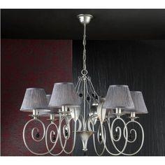 Lámpara 6 luces ETNA http://www.cuorebello.es/index.php/decoracion/lamparas/lampara-6-luces-etna.html
