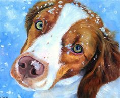Art of the Brittany Spaniel. Lyn Hamer Cook©  Awesome, looks exactly like a Brittany :)
