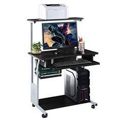 Computer Desk w/ Printer Shelf Stand #OfficeProducts #Computer #OfficeFurniture #Desks #Workstations #Furniture #Decor