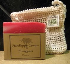 Been looking for a way to collect all those little bits of your favorite soaps and enjoy them 'til their very end? We have and here's the answer. This is a natural cotton, open weave soap bag with a drawstring closure. One side of the bag is an open mesh; the reverse side is a denser weave, soft like a washcloth.  ECOBAGS Natural Cotton Soap Bag, $4.75 (http://www.sandlappersoaps.com/ecobags-natural-cotton-soap-bag/)