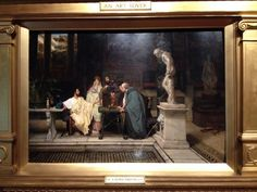 via Lucy Paquette @HammockAuthor   An Art Lover (1878), by Lawrence Alma-Tadema.  Yale Univ. Art Gallery