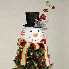 Snowman Head Christmas Tree Topper | christmas | Pinterest | Tree ...