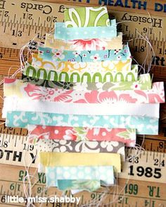 """1"""" strip paper piecing.  Great use of those misc. scraps."""