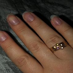 maddie lawrence added a photo of their purchase Birthstone Stacking Rings, Gold Rings, Gemstone Rings, Multiple Rings, Mother Rings, Argent Sterling, Green Tourmaline, Handcrafted Jewelry, Birthstones