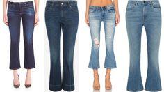 Feirinha Chic : Cropped flare jeans - A calça jeans que encolheu