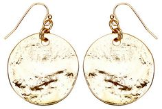 One Kings Lane - Jewelry Bazaar - Disc Texture Earrings