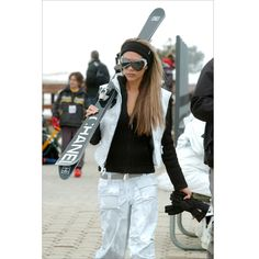 I need to get Chanel skis!!!  Outfit is cool too!